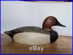 Ken Anger Vintage Duck Decoy, Dunneville, Ontario canvasback, hollow, glass eyes