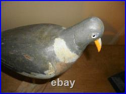 L@@K 3 Antique/Vintage Wooden Decoy Pigeons