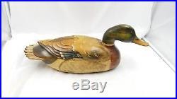 Large Tom Taber Duck Decoy Signed