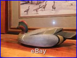 Lifesize George Strunk GWT-Green Winged Teal Drake Decoy Delaware River style