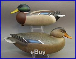 Mallard Duck Decoy Matched Pair Delaware River Rick Brown Brick Township Nj