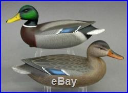 Mallard Duck Decoy Matched Pair Delaware River Miniature Rick Brown Brick Nj