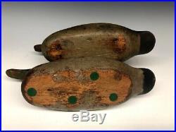 Mason Decoy Company Mallard Pair Duck Hunting Decoys Old Antique Vintage