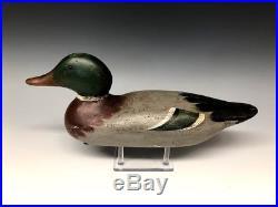 Mason Mallard Drake Duck Hunting Decoy Decoys 1915 Old Wooden Antique Vintage