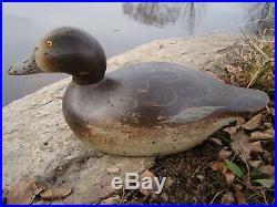 Mason Premier Grade REDHEAD Hen Duck Decoy-Original Paint! 100 years old