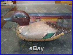 Mason decoy factory green teal drake duck