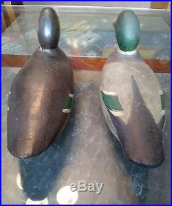 Mason wood duck decoys factory pair