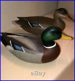 Miniature Mallard Decoy Matched Pair Delaware River Rick Brown Brick Nj