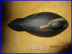 Miniature hollow sleeper blackduck decoys by George Strunk