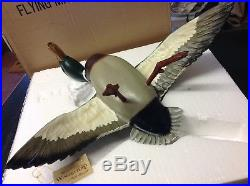 NIB! MIKE BORRETT MALLARD WINGSETTERS Drake Hen Original Flyers duck decoy MINT