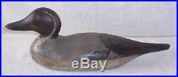 NICE! GLASS EYE MASON FACTORY DRAKE PINTAIL Wood Duck Decoy