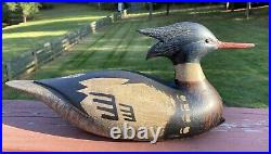 Nice Branded Vintage R. J. Bob Brown, Barnegat, NJ Beautifully Carved Decoy