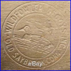 OLD SAYBROOK CONN. 1939 WILDFOWLER DUCK DECOY Lot WOOD Circa 1930s- PAIR LOT