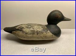 Old Antique Vintage Wood Duck Decoy MASON Scaup Bluebill Drake