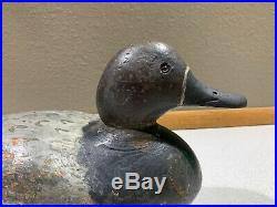 Old Vintage Wooden Duck Decoy MASON Diver Bluebill Scaup