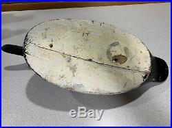 Old Vintage Wooden Duck Decoy MASON Diver Duck Drake Canvasback Oversize