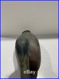 Old Vintage Wooden Duck Decoy MASON Mallard Drake