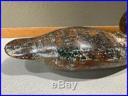 Old Vintage Wooden Duck Decoy MASON Puddle Duck Mallard
