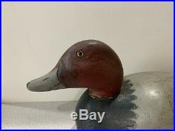 Old Vintage Wooden Duck Decoy MASON Redhead Premium