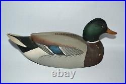 Oliver Lawson Vintage 1967 Balsa Wood Mallard Duck Decoy