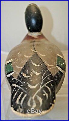 Original Paint 1890s 1920s Mason Mallard Wood Carved Hunting Duck Decoy Lure