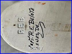 Original Wood Carved Merganser Drake Decoy by Capt. Richard E Belote, Lewes, DE