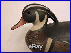 Outstanding Hollow Wood Duck Drake By Mark Mcnair Decoy