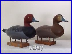 Pair Of Charlie Bryan Redhead Duck Decoys