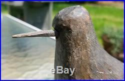 PLOVER SHOREBIRD JAMAICA BAY LONG ISLAND DUCK DECOY ORIGINAL PAINT BRANDED c1860