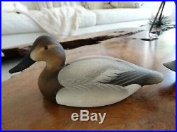 Pair Charlie Joiner Canvasback Drake Signed C. W. JOINER 1976 Duck Decoy Decoys