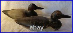 Pair Of Original Rigmate Mason Tackeye Canvasback Duck Decoys