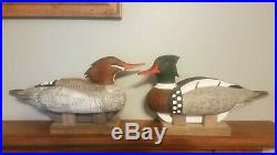 Pair Red-breasted merganser decoys