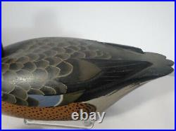 Pair Vintage Carved Blue Wing Teal Duck Decoys- Davy Nichol Ontario Mint