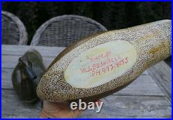 Pair of W. S. Bushnell hand-carved, painted Decoys Wood Duck and Pintail Hens
