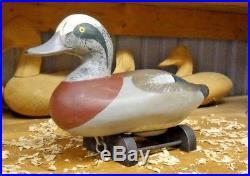 Paul Gibson (1902-1984) of Havre De Grace Maryland 1950 Widgeon Drake Decoy