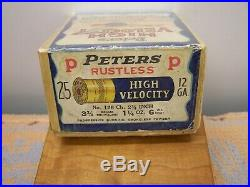 Peters Cartridge Co High Velocity Red Head Canvasback Duck Decoy Shell Box Empty