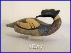 Pierre Bacon Merganser Duck Decoy Quebec Canada Original Wooden Goose Shorebird