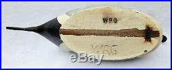 Pintail Drake Wooden Duck Decoy by William (Bill) Goenne