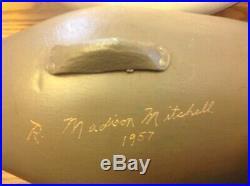 Pr Bluebill Decoys By Madison Mitchell Havre de Grace, Md. S/D 1957
