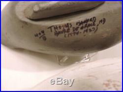 Pr. Canvasbacks Thomas Barnard, Havre De Grace, Md. Decoy