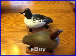 Pr Golden Eye Decoys By Bill Schauber, Chestertown, Md. S/D 2008