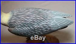 Quality vintage hand carved wood folk art shore-bird duck decoy sculpture statue