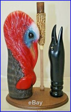 RARE 2010 Walton Game Calls Turkey & Crow With Stand Bird Goose Duck Hunting Decoy