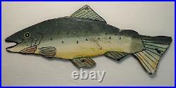 RARE Vintage c 1920s Spearing Ice Fishing Decoy Lure Metal Folk Art Fish