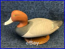 R Madison Mitchell Havre De Grace Maryland Redhead Drake Decoy Carving