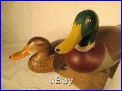 R Madison Mitchell Of Harve De Grace Signed And Dated 1960 Mallard Duck Decoys