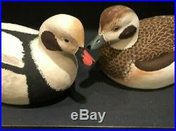 Ralph Malpage SUPER RARE Signed OLD SQUAW PAIR Duck Decoy Full Size MINT