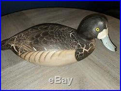 Rare ANTIQUE blue bill Signed Cedar WARD BROTHERS duck decoy limited edition