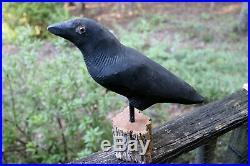 Rare Antique Vintage Animal Trap Co Experimental Crow Decoy, Original Paint