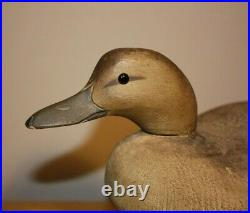 Rare Early Blue-winged Teal Hen Duck Decoy by Walter Ruppel Sheboygan, Wisconsin